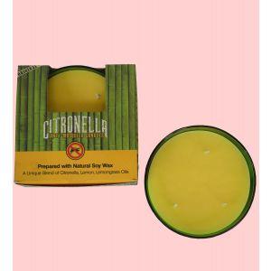 200 g. Citronella - Anti Mosquito Candle in Flat Glass Jar
