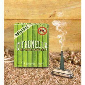 Citronella - Anti Mosquito 10 Jumbo Incense Cones (Set of 12)