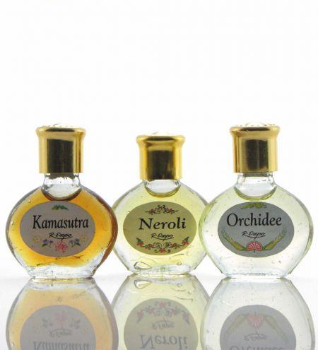 3 ml. Perfume Oil in Oval Orb Glass Bottles