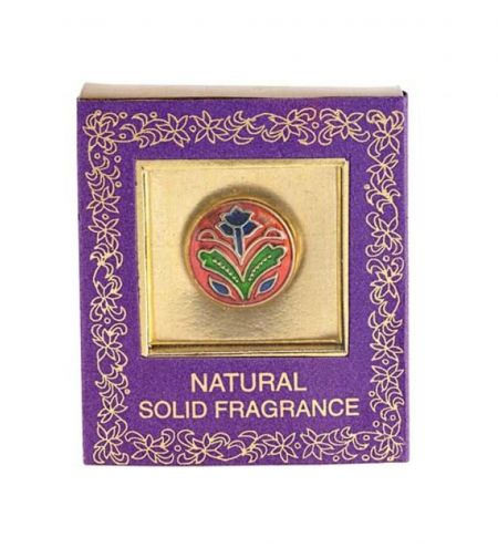 4 g. Solid Perfume in Brass Cloisonné Mini Jars