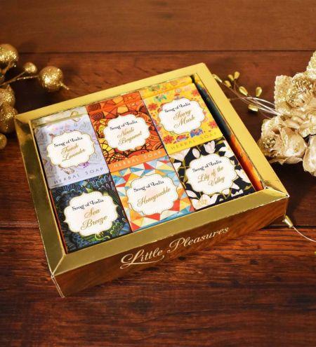 30 g. Little Pleasures Handmade Glycerin Soap in Gift Box (Set of 6)