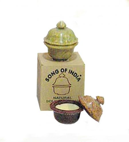 8 g. Solid Perfume in Smooth Stone Jars in Khaki Box